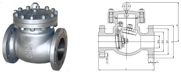 dh44y旋启式低温止回阀图片