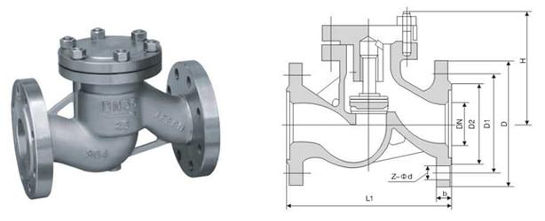 h41w-64p不锈钢升降式止回阀图片
